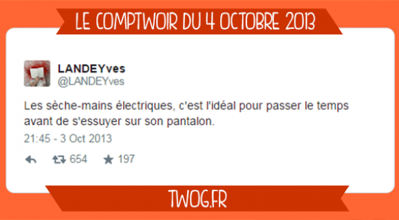 Image de couverture de l'article : Le Comptwoir du 4 octobre 2013