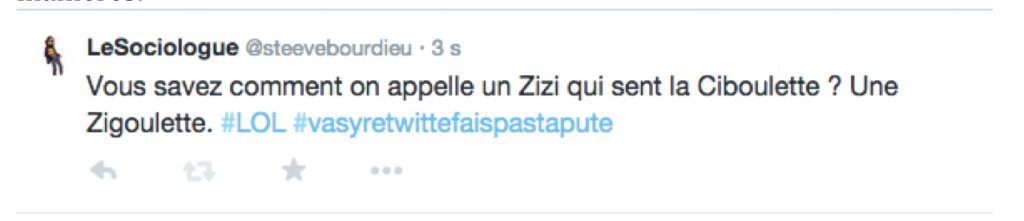 Tweet du Sociologue
