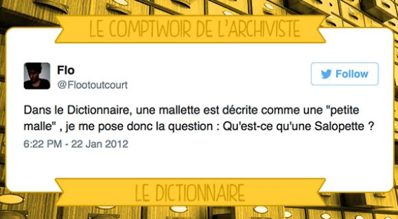 Image de couverture de l'article : Le Comptwoir de l'Archiviste |Le Dictionnaire