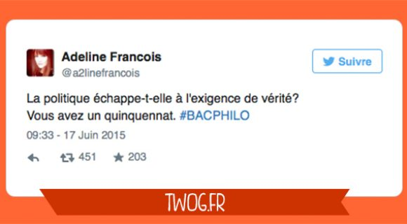 Image de couverture de l'article : Le Bac Philo 2015 vu de Twitter