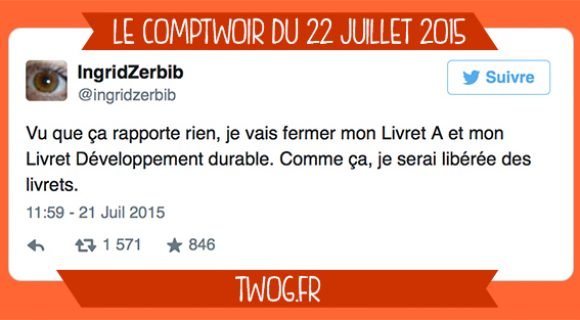 Image de couverture de l'article : Le Comptwoir du 22 juillet 2015