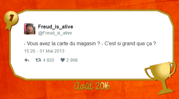 Image de couverture de l'article : Le Twitto du mois – @freud_is_alive