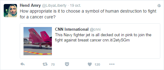How appropriate is it to choose a symbol of human destruction to fight for a cancer cure?