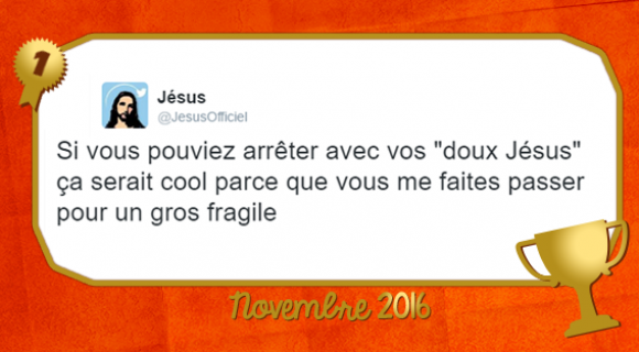Image de couverture de l'article : Le Twitto du mois – @JesusOfficiel