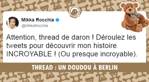 Image de couverture de l'article : THREAD : UN DOUDOU À BERLIN
